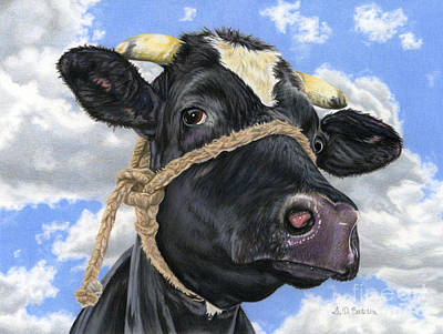 Cows Painting - Lola by Sarah Batalka