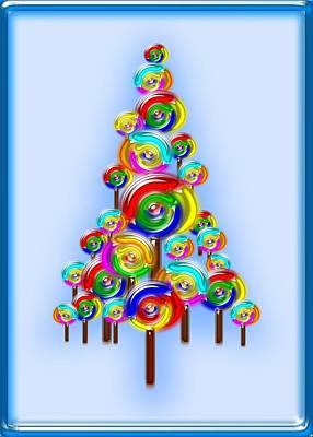 Lollipop Tree Print by Anastasiya Malakhova