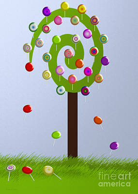 Candy Digital Art - Lolly Pop Tree by Andee Design
