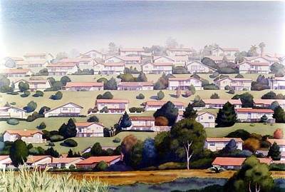 Neighborhood Painting - Lomas Santa Fe by Mary Helmreich