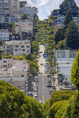 Garage Photograph - Lombard Street by Adam Romanowicz