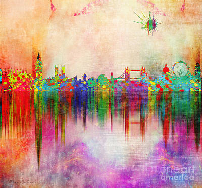Big Cities Digital Art - London 5 by Mark Ashkenazi