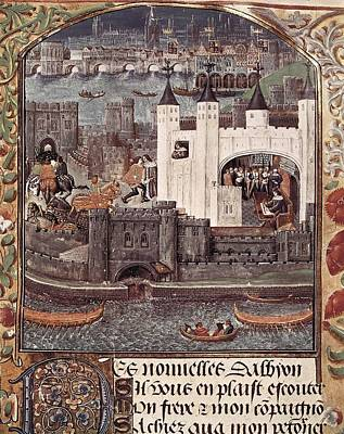 London And The Thames 15th C.. Gothic Print by Everett