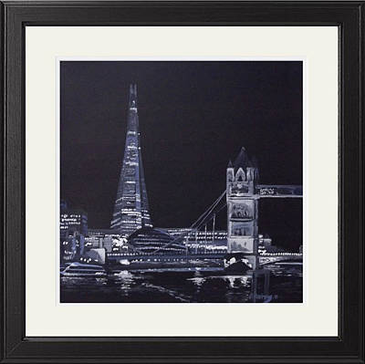 Shards Painting - London At Night The Shard   by Darren Andrews