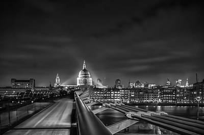 London Skyline Photograph - London Black And White by Ian Hufton
