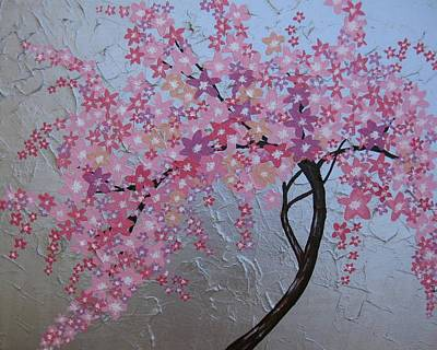 London Blossoms Print by Cathy Jacobs