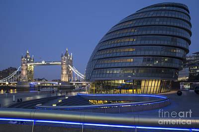 London City Hall - Tower Bridge Print by Brian Jannsen