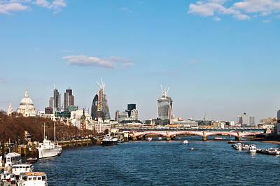 Gherkin Photograph - London Daytime by Tom Gowanlock