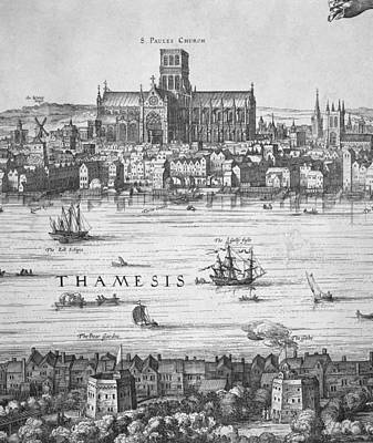 London During Elizabeth Is Reign 17th Print by Everett