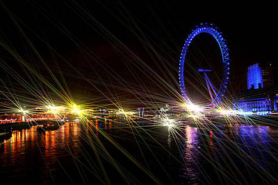 London Eye Mixed Media - London Eye Art II by Doc Braham