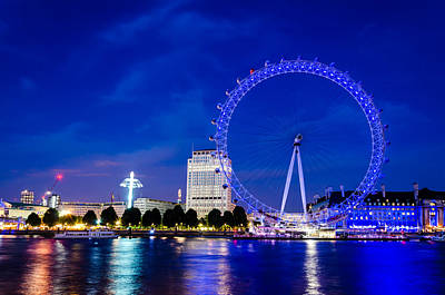 London Eye At Night Original by Florin Bolocan