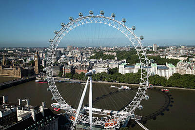 Buckingham Palace Photograph - London Eye by Mark Thomas