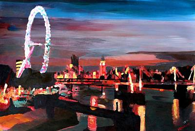 London Eye Night Original by M Bleichner