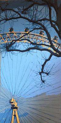 London Eye Painting - London Eye by Sue Rowe