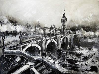 London Skyline Painting - London by Irina Rumyantseva