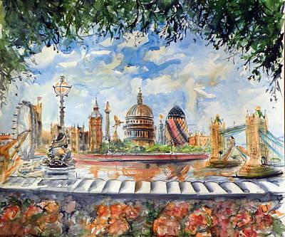 Big Ben Painting - London by Kovacs Anna Brigitta