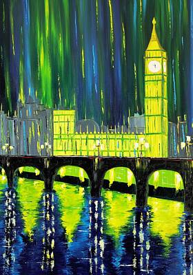 Limelight Painting - London Limelight by Galina Zimmatore