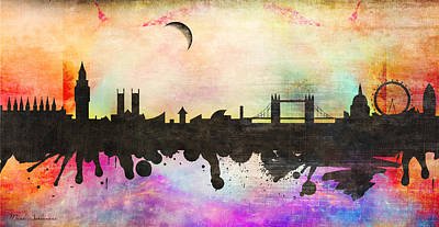 Big Cities Digital Art - London by Mark Ashkenazi