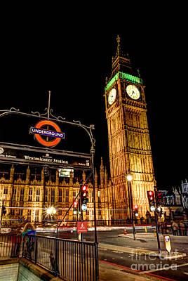 Big Ben Photograph - London Scene 2 by Jasna Buncic
