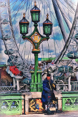 London Signs Print by Yury Malkov
