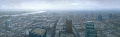 London Skyline Cityscape Original by Steve Mitchell