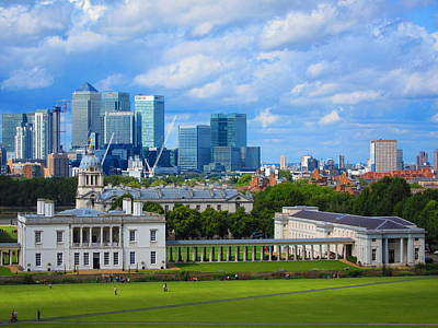 London Photograph - London Skyline From Greenwich by Andreas Thust