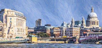 London Skyline Digital Art - London Skyline by Liz Leyden