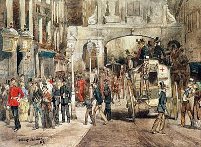 London Street, 1869  Print by Jean-Baptiste Edouard Detaille