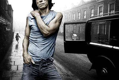 Mick Jagger Mixed Media - London Street Satisfaction With Mick Jagger The Rolling Stones by Tony Rubino