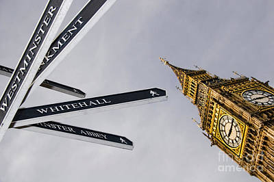 Westminster Abbey Photograph - London Street Signs by David Smith