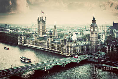 House Photograph - London The Uk Big Ben The Palace Of Westminster by Michal Bednarek