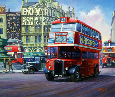 Streetscenes Painting - London Transport Rt1. by Mike  Jeffries