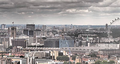 London Skyline Photograph - London Under Grey Skies by Rona Black