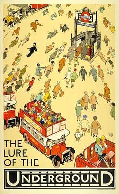 London Tube Mixed Media - London Underground by David Wagner