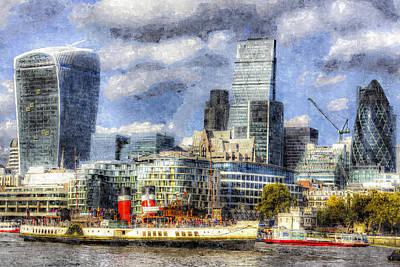 Tower Of London Digital Art - London View Art by David Pyatt
