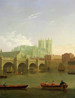 Westminster Abbey Painting - London, Westminster Abbey And Bridge Westminster Abbey by Litz Collection