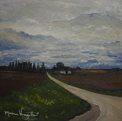 Lone Country Road Print by Monica Veraguth