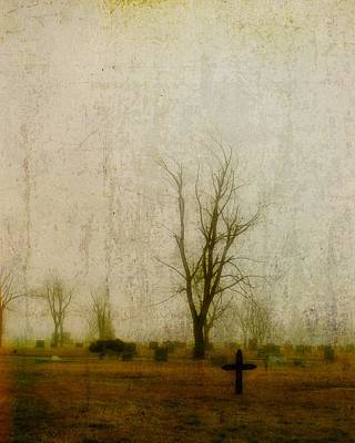 Graveyard Digital Art - Lone Cross by Gothicolors Donna Snyder