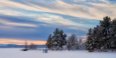 Lone Icy Shanty Print by Darylann Leonard Photography