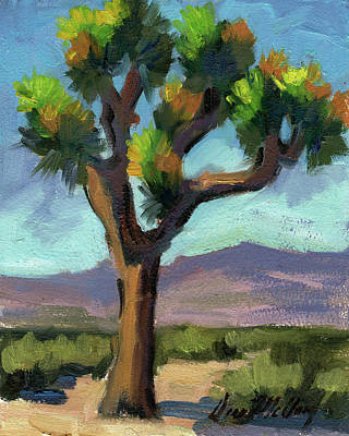 Country Scenes Painting - Lone Joshua Tree by Diane McClary