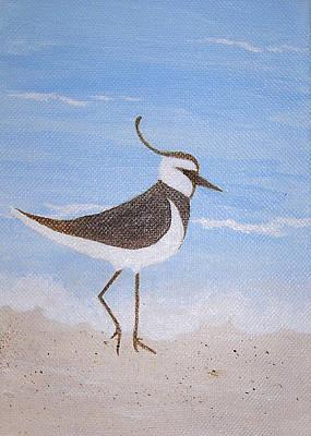 Lapwing Painting - Lone Ranger by Debbie Kiewiet