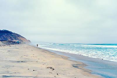 Lone Surfer Print by Tanya Harrison