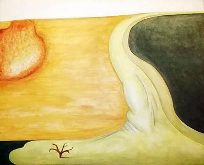 Interesting Painting - Lone Tree by James Z Jilbert