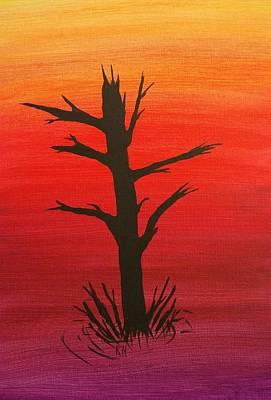 Lone Tree Print by Keith Nichols
