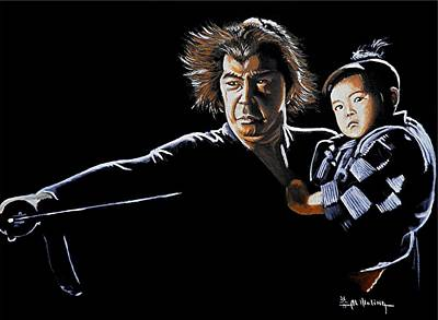 Lone Wolf And Cub Print by Al  Molina