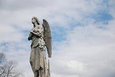 Angel Photograph - Lonely Angel by Jennifer Ancker