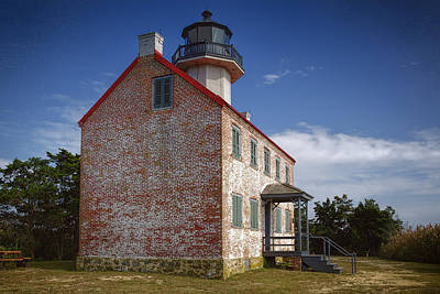 Lonely East Point Lighthouse Original by Joan Carroll