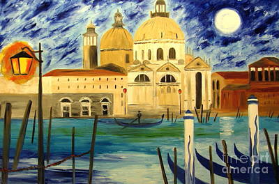 Lonely Gondolier Print by Mariana Stauffer
