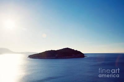 Lonely Island - Dubrovnik Croatia Print by Erin Johnson