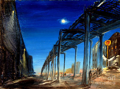 Subways Painting - Lonely Night In Queens by Arthur Robins